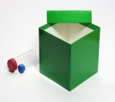 Middle gift box green - glossy - 13.6 x 13.6 x 13 cm