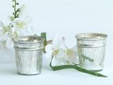 Lantern glass silver