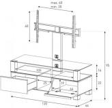 Sonorous TV-Furniture Saragossa MD8123-B-INX-CPN