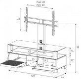 Sonorous TV-Furniture Saragossa MD8123-B-HBLK-AMZ