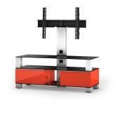 Sonorous TV-Furniture Saragossa MD8123-B-INX-RED