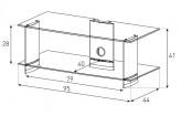 Sonorous TV-Furniture Saragossa PL3115-C-HBLK