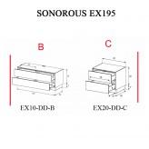 Sonorous TV-Furniture Elements EX195 = EX10-DD-EX20-DD individually configured