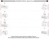 Sonorous TV-Furniture Elements EX225 = EX10-DD-EX20-DD individually configured