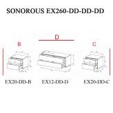 Sonorous TV-Furniture Elements EX260-EX20-DD-EX12-DD-EX20-DD